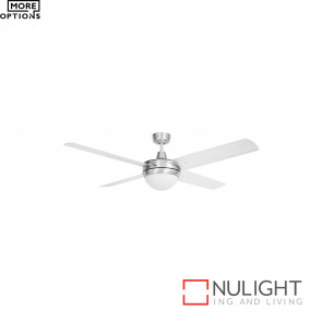 Tempest 52 Inch Celing Fan With 2Xb22 Light- Alum With Aluminium Blades BRI