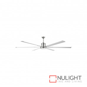 Maelstrom-Ii 84 Inch Industrial Style Ceiling Fan With Light-Satin Nickel BRI