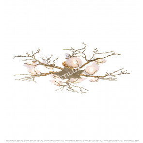 Copper Maple Leaf Ceiling Light Citilux