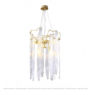 All Copper Tree Glazed Small Chandelier Citilux