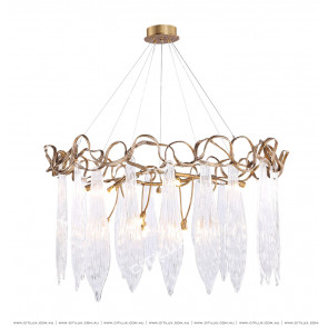 All-Copper Shaped Vine Glass Chandelier Citilux