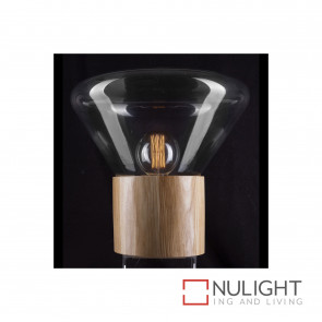 Copenhagen Glass Dome Table Lamp - Timber And Clear BRI
