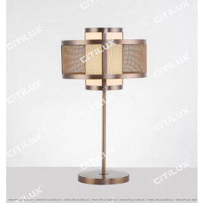 Chinese Stainless Steel Mesh Table Lamp Citilux