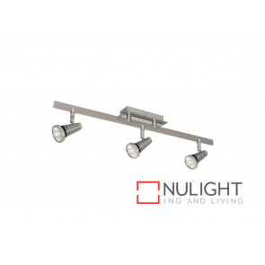 Sepia 4 Light GU10 Plate Satin Chrome Spotlight VAM