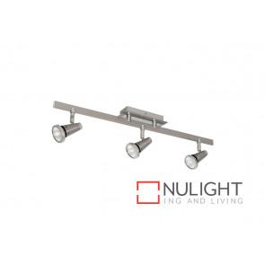 Sepia 4 Light GU10 Plate Satin Chrome Spotlight VAM