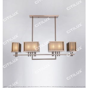 Chinese Stainless Steel Mesh Multi-Head Chandelier Citilux