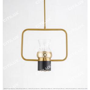 Black Plus Gold Bar Single Head Chandelier Cross Section Citilux