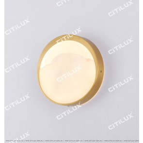 Round Spanish Marble Mountain Water Wall Light Citilux