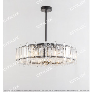 Imitation Natural Crystal Ring Stainless Steel Chandelier Large Citilux