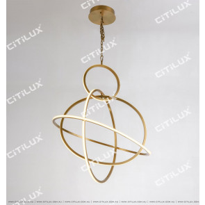 Minimalist Stainless Steel Round Cross Led Chandelier Small Citilux