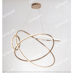 Minimalist Stainless Steel Round Cross Led Chandelier Large Citilux