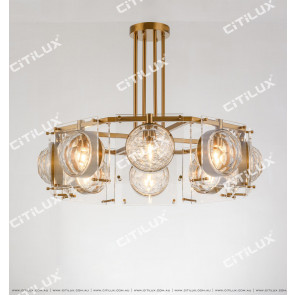 Octagonal Semicircular Crystal Combination Chandelier Citilux