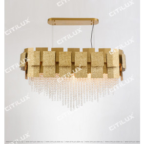 Stainless Steel Square Enamel Texture Chandelier Citilux