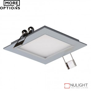 Panel 101 Square 3W Led Panel Light Silver Frame Led DOM