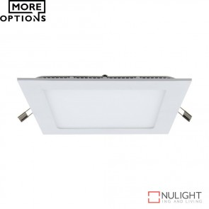 Panel 202 Square 9W Led Panel Light Silver Frame Led DOM