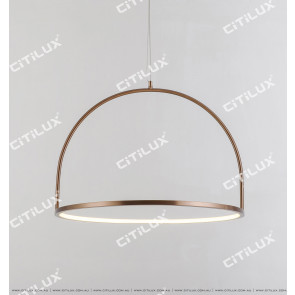 Brushed Green Bronze Round Led Modern Chandelier Large Citilux