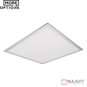 Panel 606 Square 45W Led Panel Light Natural Anodised Aluminium Frame Led DOM
