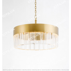 Wafer Round Stainless Steel Chandelier Small Citilux