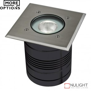 Modula Square 24V 9W Led Inground Light Aluminium Finish Led DOM