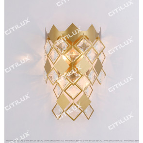 Diamond Stainless Steel Crystal Wall Lamp Citilux