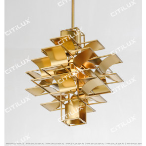 Stainless Steel Textured Chandelier Citilux