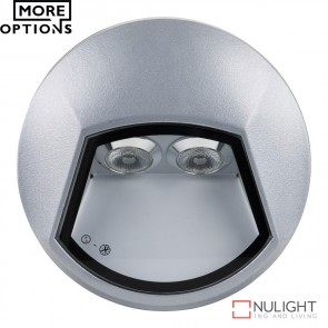 Ixis Sm Round 2W Surface Mounted Steplight Silver Body Led DOM