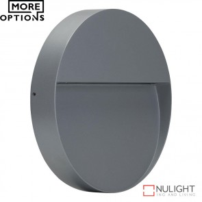 Zeke Round 9W Led Wall Light Silver Finish Led DOM