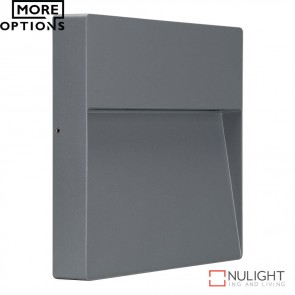 Zeke Square 9W Led Wall Light Silver Finish Led DOM