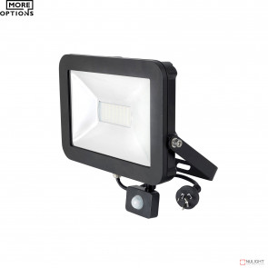 Stealth Slim Floodlight With Sensor 4200K - Black BRI