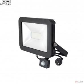 Stealth Slim Floodlight With Sensor 4200K - Black BRI