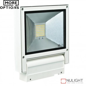 Flash 20 Adjustable 240V 20W Led Floodlight White Finish Led DOM