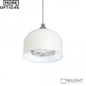 Pandora 7W Led Dome Pendant Satin White Finish Led DOM
