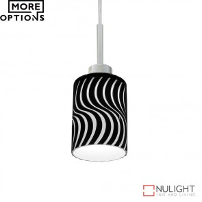 Scroll 12W Led Swirl Pendant Gloss Glass Shade Led DOM