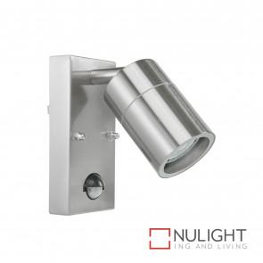 Denver-Ii Adjustable Wall Light With Sensor Inc 4W Led Globe-Stainless Steel BRI