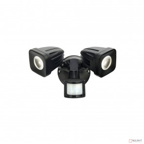 Viper 2 Light Led Spotlight With Sensor - Black BRI