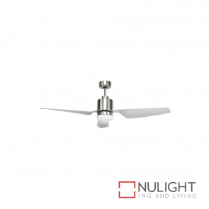 Cayman 52 Inch Dc Ceiling Fan With Light Satin Nickel BRI