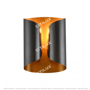 Modern Wall Light In Black And Gold Colour Citilux