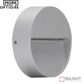 Zeke Mini Rd Round 3W Led Steplight Silver Finish Led DOM