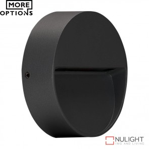 Zeke Mini Rd Round 3W Led Steplight Dark Grey Finish Led DOM