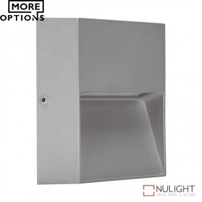 Zeke Mini Sqr Square 3W Led Steplight Silver Finish Led DOM