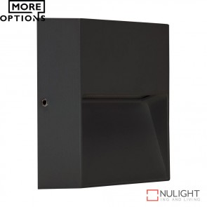 Zeke Mini Sqr Square 3W Led Steplight Dark Grey Finish Led DOM