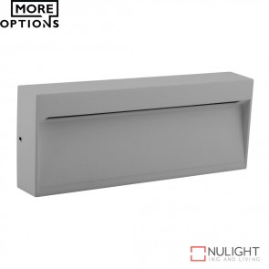 Zeke Wide Rectangular 6W Led Steplight Silver Finish Led DOM