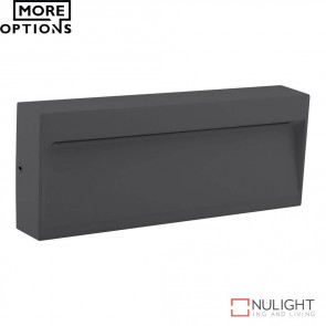 Zeke Wide Rectangular 6W Led Steplight Dark Grey Finish Led DOM