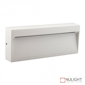 Zeke Wide Rectangular 6W Led Steplight White Finish Warm White Led DOM
