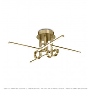 Minimalist Line Four-Head Ceiling Light Gold Citilux