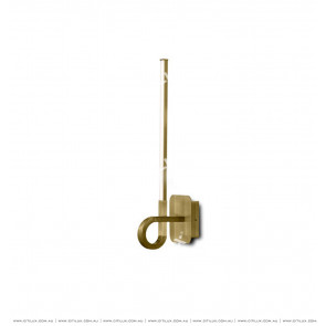 Minimalist Straight Strip Wall Light Gold Citilux