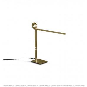 Minimalist 7 shape Linear Desk Lamp Gold Citilux