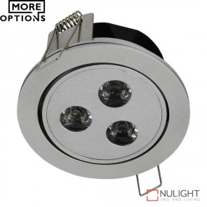 Power Puk 01 Round 700Ma 9W Led Cabinet Light Silver Frame Led DOM