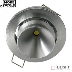 Power Puk 02 Round 700Ma 9W Led Cabinet Light Silver Frame Led DOM