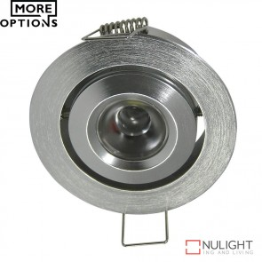 Power Puk 03 Round 700Ma 3W Led Cabinet Light Brushed Aluminium Frame Led DOM